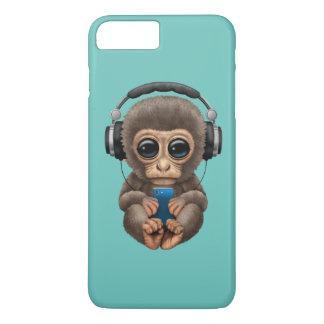 Cute Baby Monkey Wearing Headphones iPhone 8 Plus/7 Plus Case