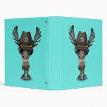 Cute Baby Moose Sheriff 3 Ring Binder