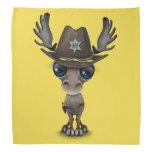 Cute Baby Moose Sheriff Bandana