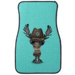 Cute Baby Moose Sheriff Car Floor Mat