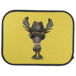 Cute Baby Moose Sheriff Car Mat