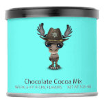 Cute Baby Moose Sheriff Hot Chocolate Drink Mix