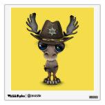 Cute Baby Moose Sheriff Wall Sticker