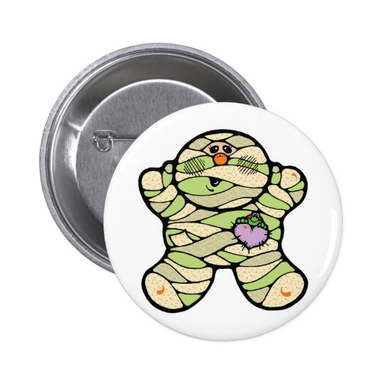 cute baby mummy button