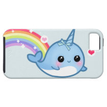 Cute baby narwhal and rainbow iPhone SE/5/5s case