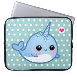 Cute baby narwhal computer sleeve