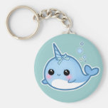 Cute baby narwhal keychain