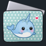 "Cute baby narwhal laptop sleeve<br><div class=""desc"">Protect your laptop with this super cute and durable sleeve. Featuring a kawaii baby narwhal with pink heart on white and blue background,  this sleeve will guard your laptop in style. There&#39;re 3 sizes for you to choose.</div>"