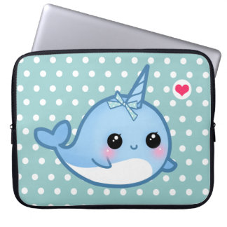 Cute baby narwhal laptop sleeve