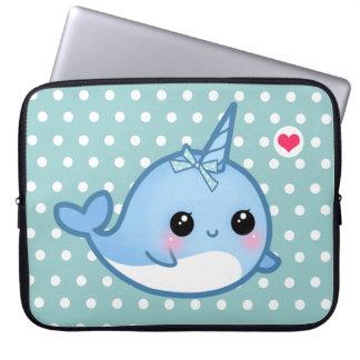 Cute baby narwhal laptop sleeves