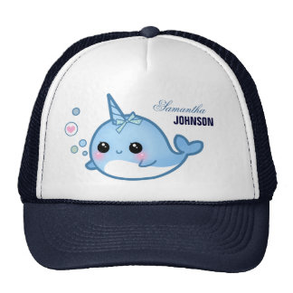 Cute baby narwhal - Personalized Trucker Hat