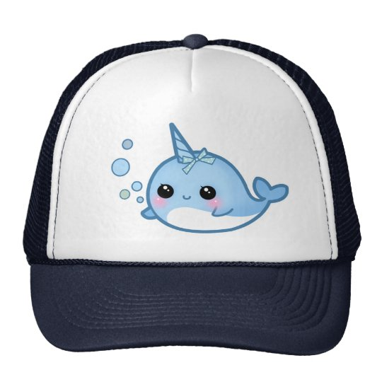 Cute baby narwhal trucker hat