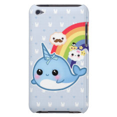 Cute Baby Narwhal With Rainbow And Kawaii Clouds Ipod Touch Case-mate Case at Zazzle
