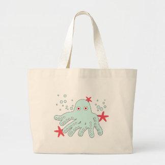 cute baby octopus canvas bag