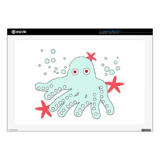 cute baby octopus laptop decal