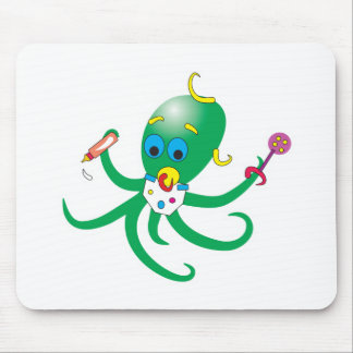 cute baby octopus mouse pad