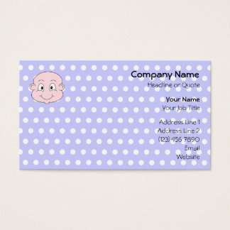 Cute Baby, on lilac polka dot pattern. Business Card