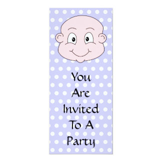 Cute Baby, on lilac polka dot pattern. Card