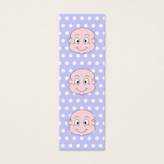 Cute Baby, on lilac polka dot pattern. Mini Business Card
