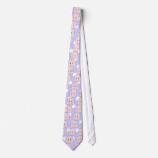 Cute Baby, on lilac polka dot pattern. Neck Tie
