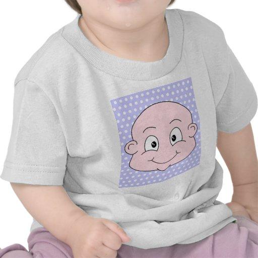 Cute Baby, on lilac polka dot pattern. Tee Shirt