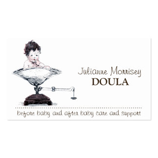 Cute Baby On Scale Doula Services Business Cards