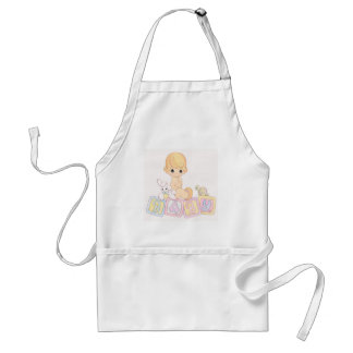 Cute Baby on Toy Blocks Adult Apron