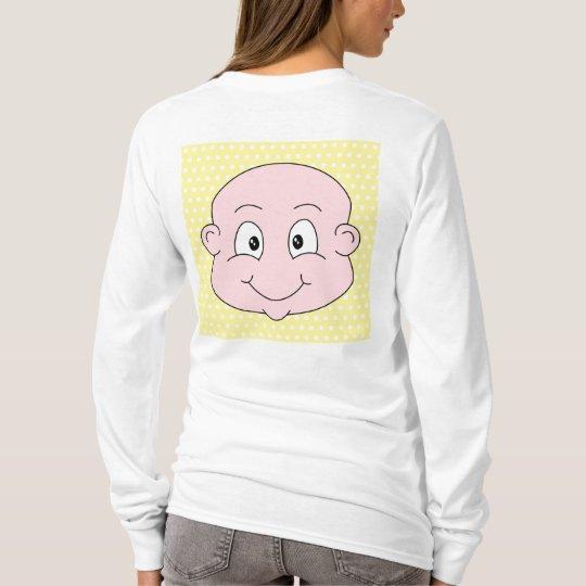 Cute Baby, on yellow polka dot pattern. T-Shirt