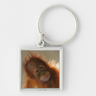 Cute Baby Orangutan Keychain