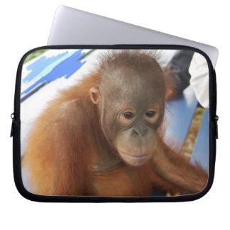 Cute Baby Orangutan Lear Electronics Bag