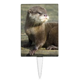 Cute Baby Otter Cake Topper