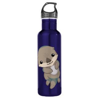 Cute Baby Otter Pup 24oz Water Bottle