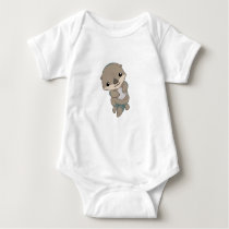 Cute Baby Otter Pup Baby Bodysuit