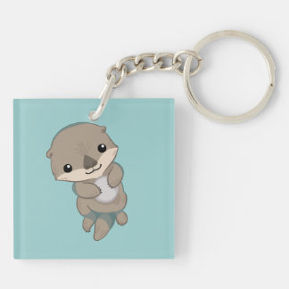 Cute Baby Otter Pup Keychain