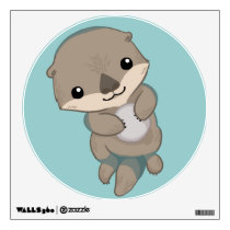 Cute Baby Otter Pup Wall Sticker