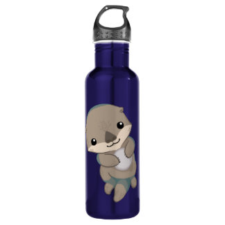 Cute Baby Otter Pup Water Bottle