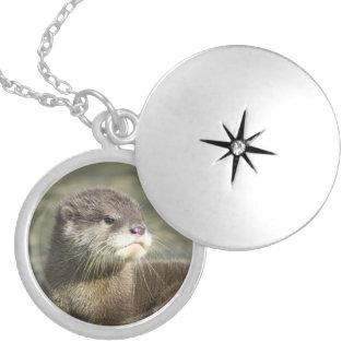 Cute Baby Otter Round Locket Necklace