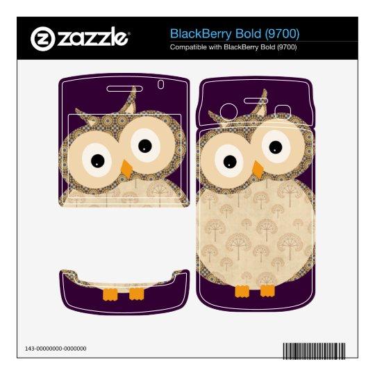 Cute baby owl BlackBerry bold skins
