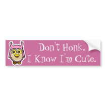 Cute Baby Owl Bumper Sticker