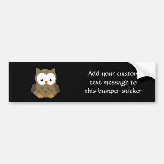 Cute Baby Owl Bumper Sticker Car Bumper Sticker