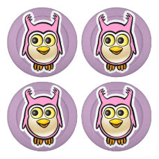 Cute Baby Owl Button Covers
