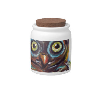 cute baby owl candy dish