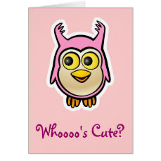 Cute Baby Owl Card
