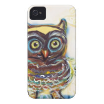 cute baby owl Case-Mate iPhone 4 case