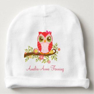Cute Baby Owl Custom Baby Beanie