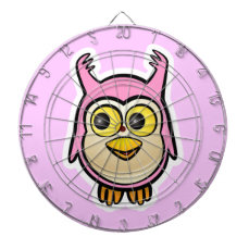 Cute Baby Owl Dartboard