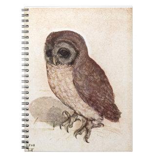 Cute Baby Owl Drawing, Watercolor Cream Brown Owl Notebook