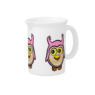 Cute Baby Owl Drink Pitcher