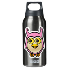 Cute Baby Owl Insulated Water Bottle