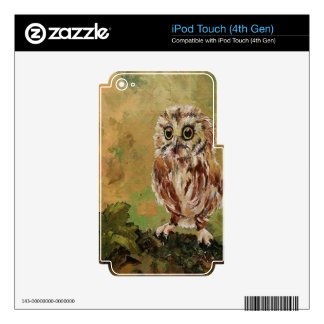 Cute baby owl iPod touch 4G decals